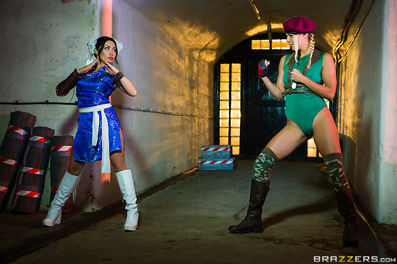 Christen Courtney, Rina Ellis - Brazzers - Hot And Mean - Sex Fighter: Chun Li vs. Cammy (XXX Parody)