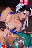 Face Sitting porn video – Sex Fighter: Chun Li vs. Cammy (XXX Parody)
