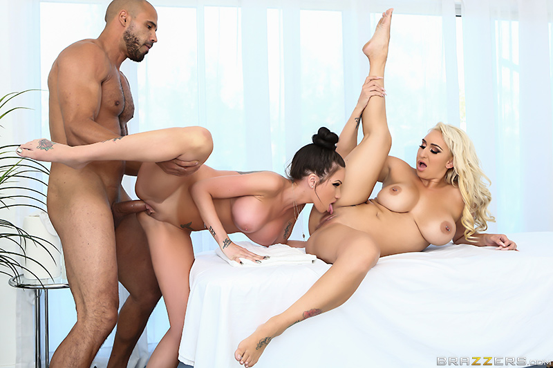 Masseuse Training 101 - Karlo Karerra, Raven Bay & Nina Kayy