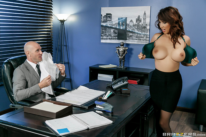 Big Tits At Work – Spilling The Boobs – Johnny Sins & Isis Love