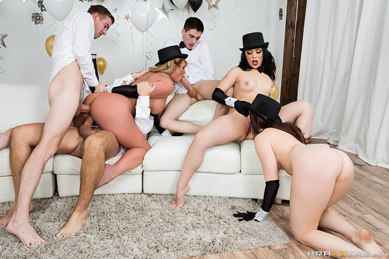 Brazzers New Years Eve Party Kristina Rose Phoenix Marie Keiran Lee Chanel Preston Danny D & Jordi El Niño Polla