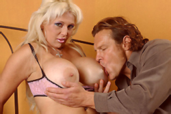 Enourmous titted milf gets fucked