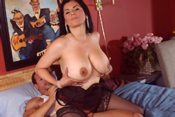 Big titted mommy fucked
