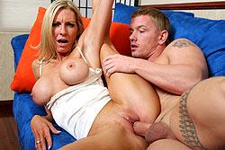 Busty blonde milf Emma Starr