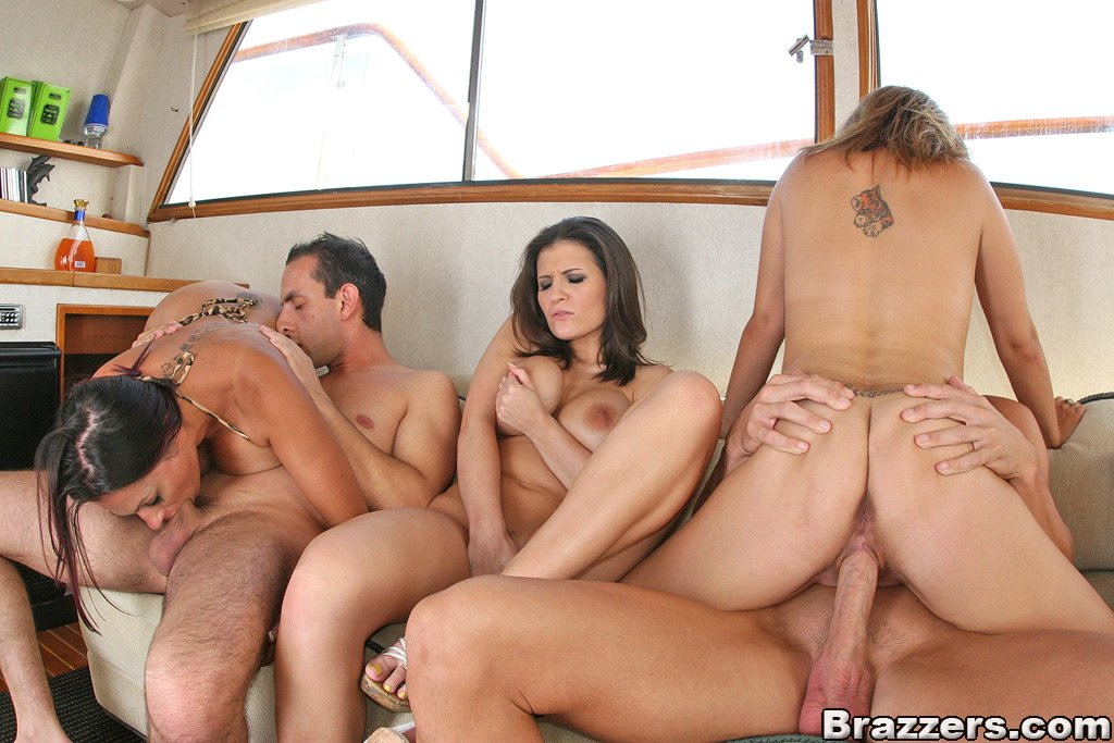 Excellent orgy on a yacht porn think