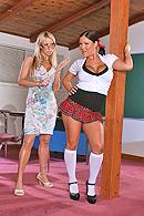 Big Tits In Class sex video