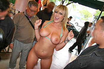 Porn stars public