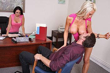 Holly & Tanya  Big Tits at Work