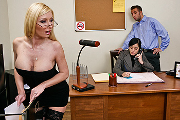 Helena Sweet Big Tits at Work