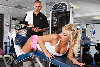 Andi Anderson as her personal trainer