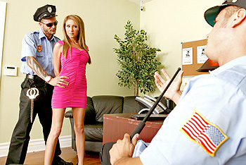 Hillary is in a rush to her fuck friends house to get some cock but her trip is delayed after getting pulled over by the police. After giving a little to much attitude she is brought to the police station to be taught a lesson.