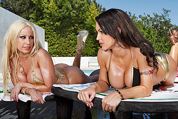 Gina Lynn, Jenna Presley big dicks video from Pornstars Like It Big