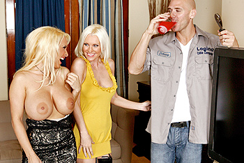 Brandi Edwards, Holly Halston milf porn video from MILFs Like It Big