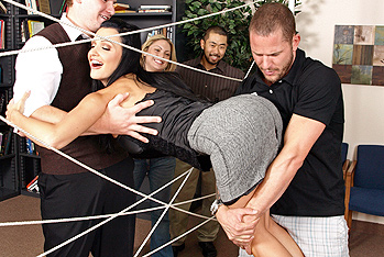 Today is she Brazzers team building day! Activities have been planned out for she employees in order to get to know and trust one another. meanwhile playing The Spider Web Aletta gets caught up in the ropes and cant get out! As she employees move onto she next event Scott cuts through she web and frees Aletta. As we all know, hero`s must be rewarded! Aletta, being she sexiest darling on earth, treats Scott to some real fuckin` Brazzers style team building. Letting him stick his boner in every one of her Sexy sexy fuck holes! Damn!
