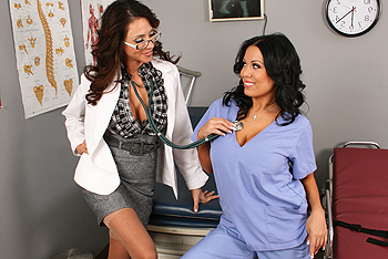 Ariella Ferrera, Sienna West uniform fetish video from Doctor Adventures