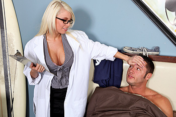 Britney Amber uniform fetish video from Doctor Adventures