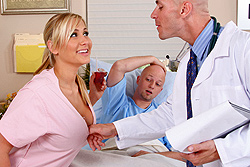 brazzers maureen, nurse & doctor play while patient's away