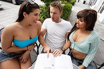 Jade Kennedy, London Keyes big boobs video from Baby Got Boobs