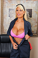 While performing her janitorial duties, Bridgette accidentally catches the office manager Jordan getting a blowjob. Jordan pulls her into his office to find out how much she saw. But when he sees her huge tits, he decides to offer her a better position in the company, which involves bending over for his big dick. from Brazzers Network