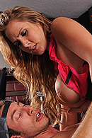 Alanah is a waitress at a truck stop. She's serving Jordan, a driver who constantly harasses her. She's not making enough money and is complaining about it. Jordan has heard and decides to take advantage of the situation offering her some money, she's ashamed but at the end her big tits become the driver's playground. from Brazzers Network