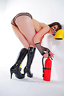 This is your chance to see Sarah, the big ass fire woman, enjoying every single corner of the fire truck by teasing and dancing. Jordan, the fireman,  comes in to check on the truck but instead of that he  hoses her down and enjoys her ass. from Brazzers Network