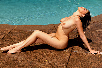 Kick back, soak up some sun poolside, and get ready for a wet ride with Nella Jay.  Let your troubles melt away as you watch Nella rub oil all over her perfect tits, bumps and grinds her booty to the rhythm, and finishes off the day by riding Scott Nails massive cock.