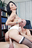 Johnny is called to meet his boss' niece Jessica. One day this sweet girl will run the company and therefore Johnny has to show her around. Jessica isn't as sweet and innocent as her uncle thinks. She's very sexual towards Johnny and forces him to fuck her pussy or he will be fired. from Big Tits At Work