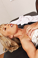 Keiran gets hurt while playing a football game, so he has to go see Dr. Moore. She has to perform a special treatment on his knee and asks Keiran to get naked. He finds it odd, but he undresses. She notices his big dick and the session turns into a pleasant release for Keiran. from Brazzers Network