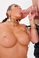 Princess Mia is one hot number in her slave outfit. She gets all oiled up for Jordan, so that he can stick his big dick in her pussy. I don't mean to be crass, but that's exactly what happens. from Brazzers Network