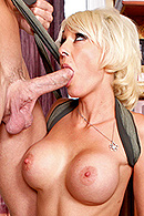 Johnny really wants to impress his date with a nice home cooked meal but he isn't very good in the kitchen. He decides to ask his friends mom to teach him a thing or two about cooking. The oven heats up quickly and before you know it, Johnny's getting some sexual lessons from Mrs. Pines. from Brazzers Network