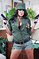 Savannah is a ruthless dictator surrounded by her private guards. Suddenly, the sirens go off due to a rebel attack advancing on her palace. Jordan is one of the guards that tries to get Savannah to flee, but she refuses and decides to fuck Jordan right there on her desk to show her defiance. from Brazzers Network