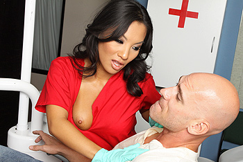Asa Akira uniform fetish video from Doctor Adventures