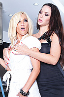 Sophia has just hired Britney to clean her house. She is extremely strict and severe with Britney. Sophia keeps being very frisky with Britney and keeps touching Britney in very inappropriate ways that makes her feel uncomfortable. Sophia tells Britney she can have a pleasant work environment or horrible one. Finally Britney gives into Sophia and she lets her have her way with her. from Brazzers Network