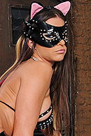 Rachel with her sexy cat costume is parading around, swinging her tail, swaying her ass, cracking her whip, and getting her ass drenched in oil, until Scott comes to give her milk. She gets amorous and rubs her body against his leg as he pets her. She purrs harder till Scott fucks her ass. from Brazzers Network