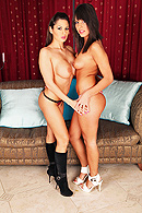 Melanie is a young conservative girl who has brought some cookies for her friend Alison. They get to talking about the good old days when Melanie spills water all over her chest. After cleaning up the mess they go  to the living room where Alison basically forces Melanie to eat her pussy but after a while Melanie enjoys it and they have passionate lesbian sex. from Brazzers Network