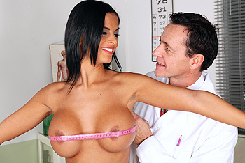 Black Angelika uniform fetish video from Doctor Adventures