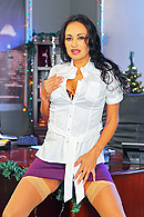 Is Christmas eve and Ramon is about to go home to celebrate. Claudia, his boss shows up with more work for him to finish right away. Ramon is not happy but all this is just a scam to pressure him. Claudia starts to ask very intimate questions about his sex life. Felling uncomfortable, Ramon tries to leave but she threatens him and ask him to fuck the shit out of her or loose his job. from Big Tits At Work