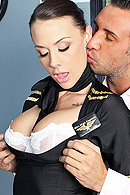 Keiran is a high powered business man waiting in the pre-boarding area when he notices a gorgeous airline stewardess attending to some of the other passengers. Chanel makes the announcement that Keiran's flight has been delayed. Forced to wait overnight, Keiran decides that the stewardess will just have to find a way to help him pass the time. from Brazzers Network