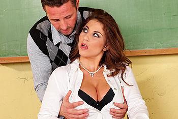 Big Tits at School &#8211; Roberta Gemma &#8211; Banging the Art Teacher