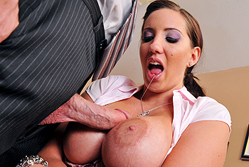 Sucking His Big Cock And Put It Between The Tits