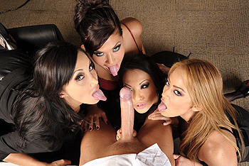 Asa Akira, Katsuni, London Keyes, Mia Lelani big boobs video from Big Tits at Work