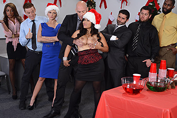 Big Tits At Work &#8211; Jessica Bangkok &#8211; Office Christmas Party