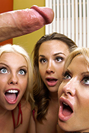 Britney Amber, Chanel Preston, Helly Mae Hellfire, James Deen on brazzers
