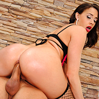 Chanel Preston is one of Brazzers hottest stars, and she's here for you in HD to show off her ample ass and perfect round titties. Watch her get plowed as never before, deep in her tight little asshole.