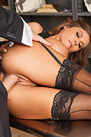 Brazzers HD video - Tied Up and Spanked at the Bank