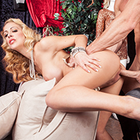 It's way too easy for rich people to go crazy and take up all kinds of weird hobbies. Ms. Cherie Deville has been playing with life-size dolls for a long time, and it's too much for her butler Johnny to handle. He takes his boss by the hand and uses every inch of his fat cock to show her why the real thing is always better.