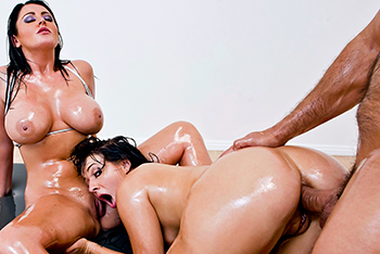 Sophie Dee, Ashli Orion anal on Brazzers