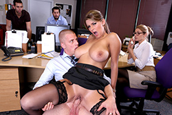 brazzers  			sienna milano		, best tits in the office