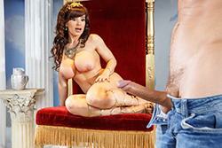 brazzers  			sienna milano		, the goddess of big dick