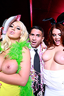 Top pornstar Brooklyn Blue, Demetri X, Emma Leigh, Jasmine Jae